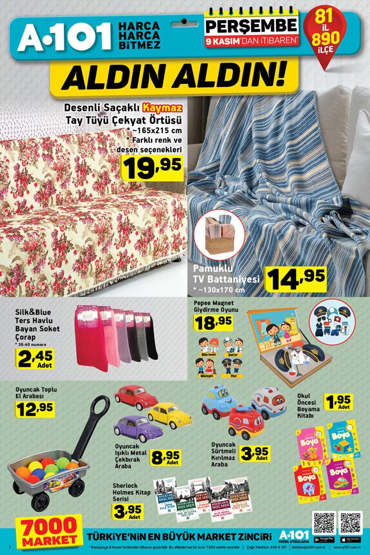 A101 9 Kasım Aktüel İndirimleri Ev Tekstili
