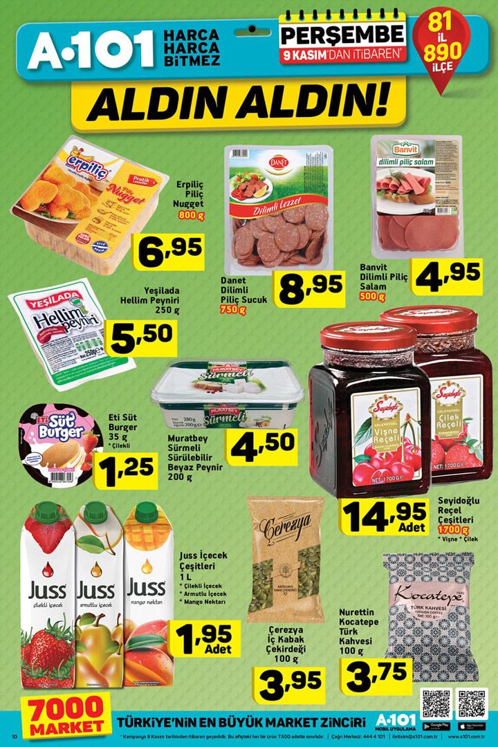 A101 9 Kasım Aktüel Gıda ve Et Ürünleri İndirimleri