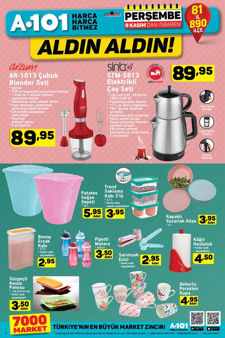 A101 9 Kasım Mutfakta Yardımcı Aktüel Ürünler