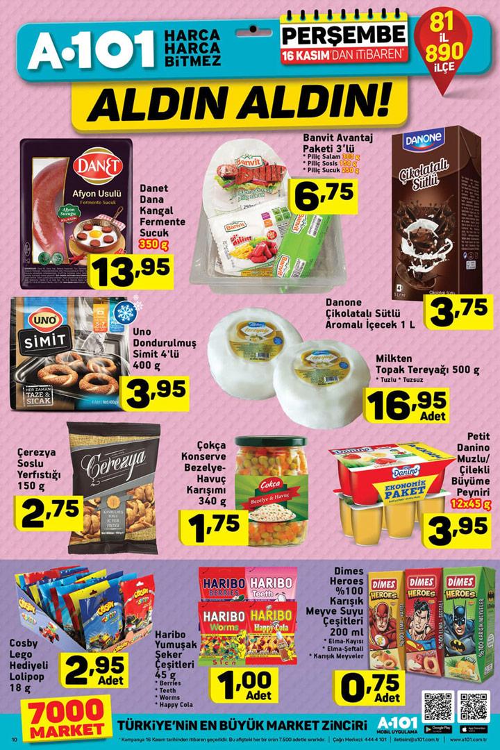 A101 16 Kasım Aldın Aldın Gıda Fırsatları Aktüel