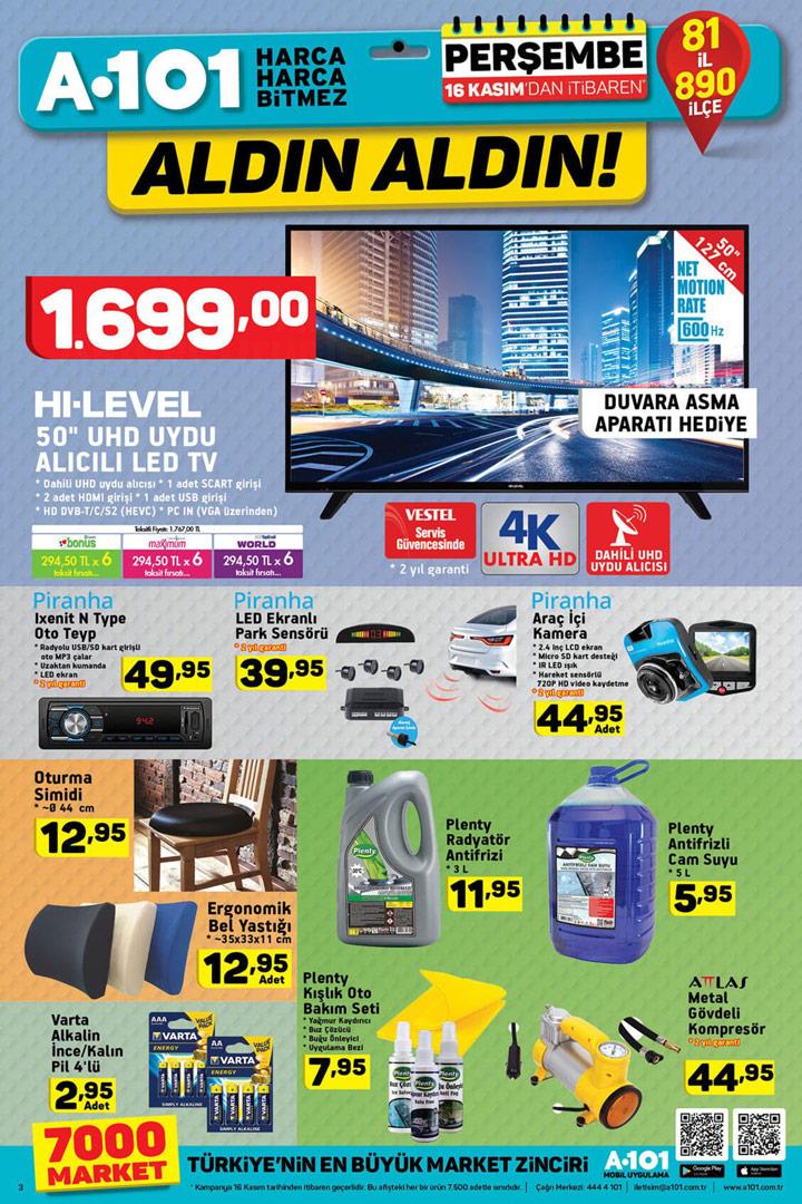 A101 16 Kasım Elektronik Aktüel Ürün İndirimleri