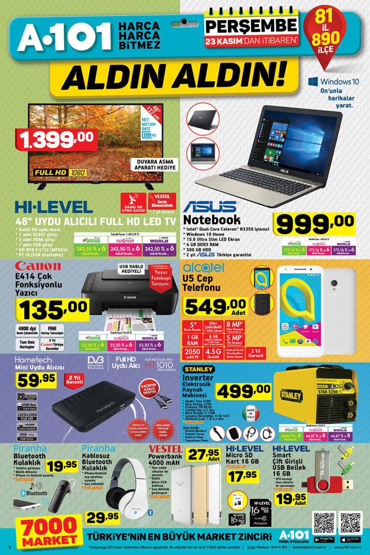 A101 23 Kasım Elektronik Aktüel Ürün Sayfası