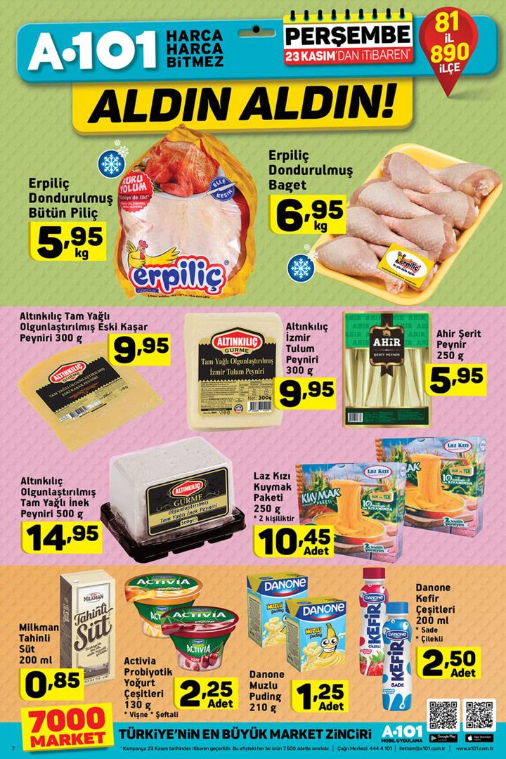 A101 23 Kasım Gıda Fırsatları Aktüel Ürün İndirimleri