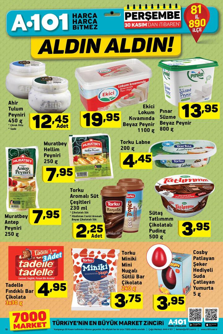A101 30 Kasım Aldın Aldın Gıda İndirimleri