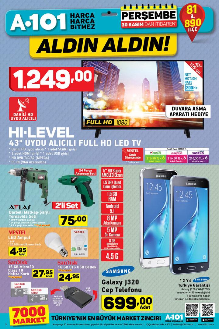 A101 30 Kasım Perşembe Aktüel Elektronik Fırsatları