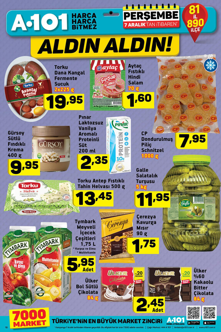 A101 7 Aralık Gıda Ürünleri Muhteşem İndirimleri