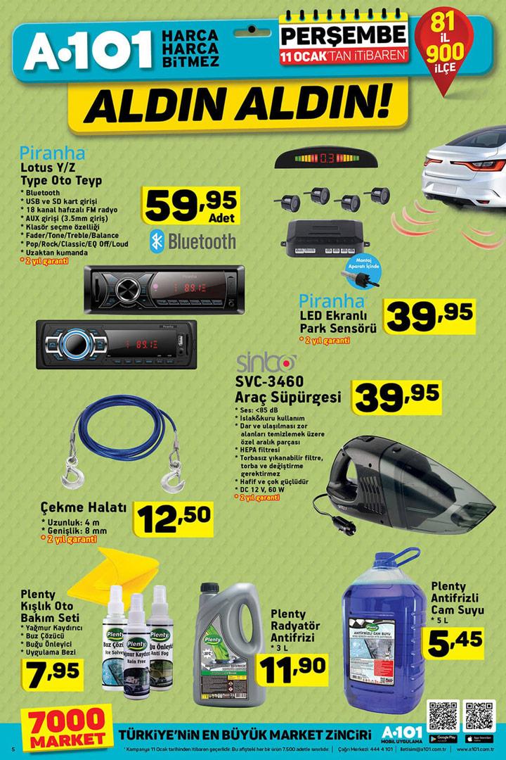 A101 11 Ocak Araba & Otomobil Aktüel Ürünleri