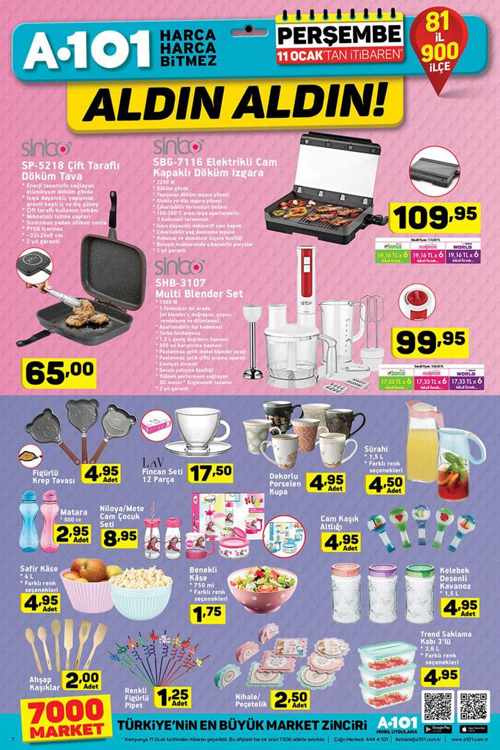 A101 11 Ocak Mutfak Ürünleri Aktüel Sayfası
