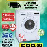 A101 21 Aralık SEG SCM 7101 Çamaşır Makinesi