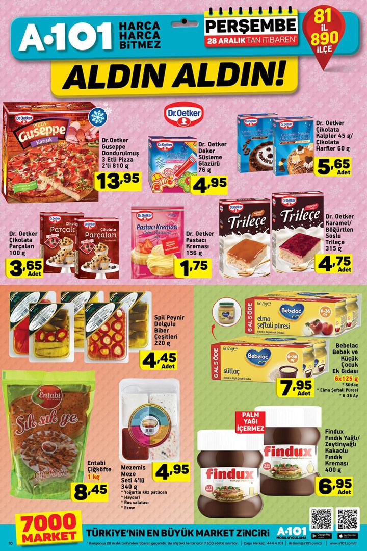 A101 28 Aralık Gıda Ürünleri Aktüel Fırsatları Sayfası