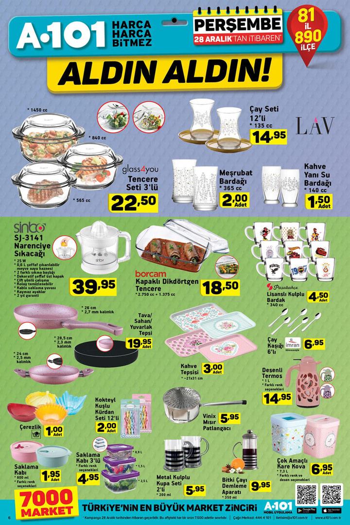 A101 28 Aralık Mutfak Ürünleri Aktüel Fırsatları