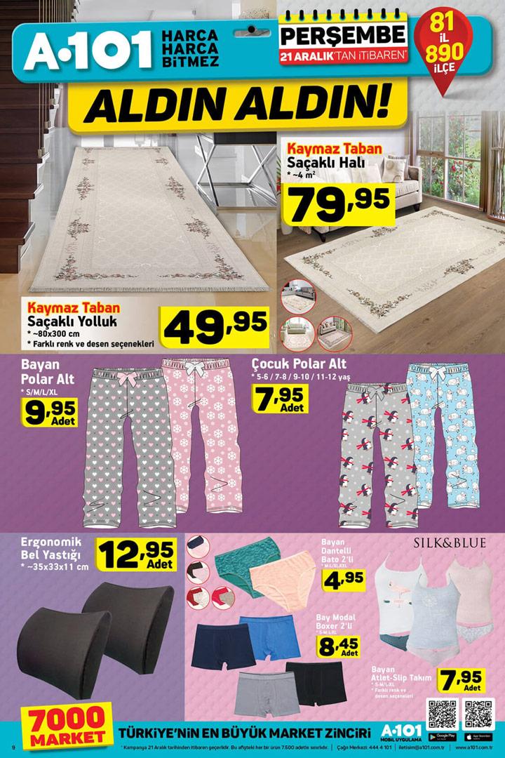 A101 Market 21 Aralık 2017 Ev Tekstili Aktüel