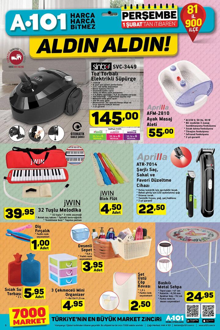 A101 1 Şubat Aktüel Ürün Yeni İndirimleri Sayfası