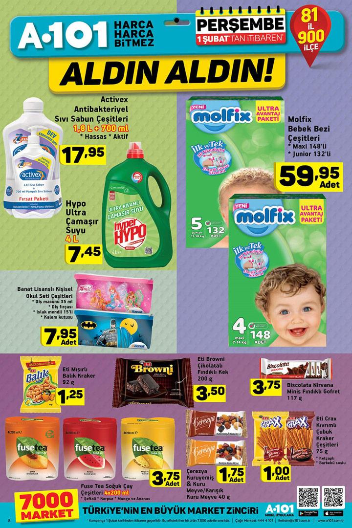 A101 1 Şubat Aktüel Temizlik Ürünleri ve Kataloğu