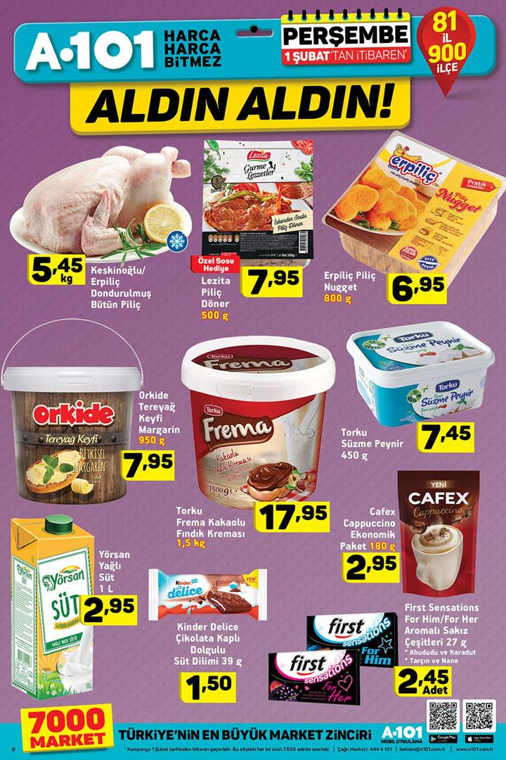 A101 1 Şubat Gıda Ürünleri Aktüel Fırsatları Sayfası