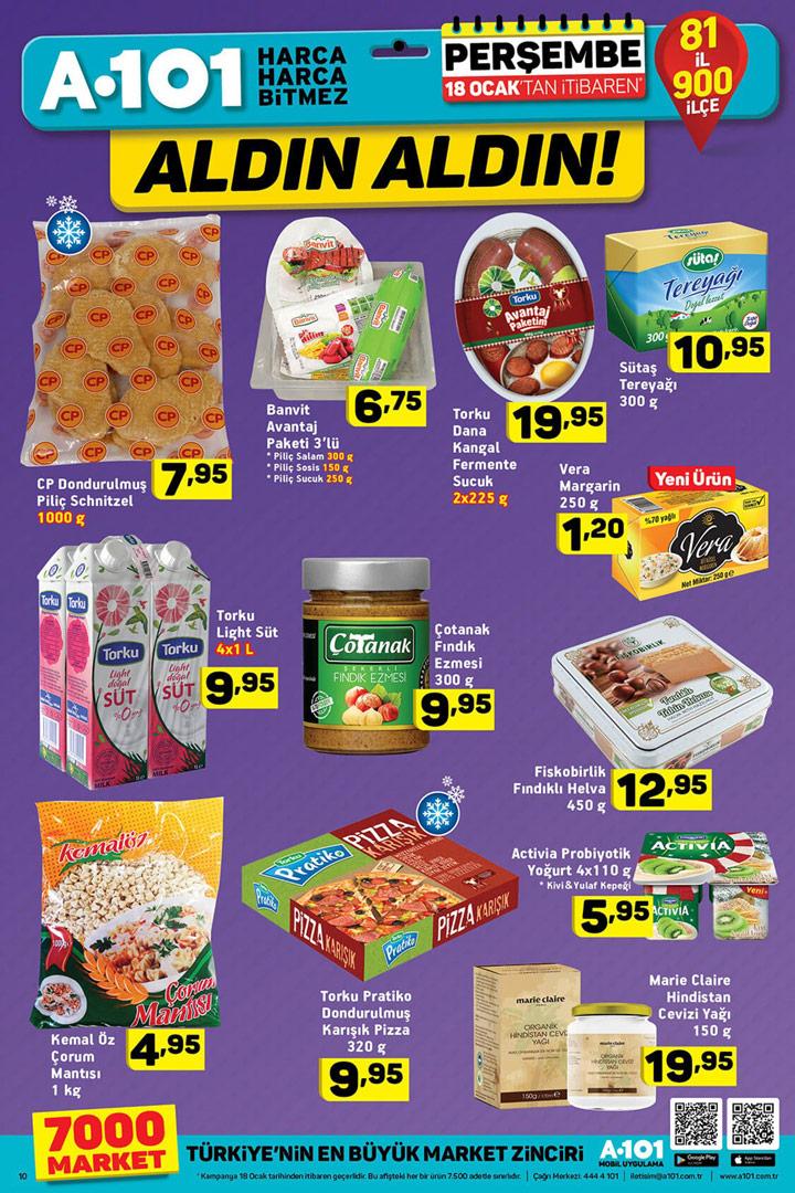 A101 18 Ocak Aktüel Gıda Fırsatları Kataloğu