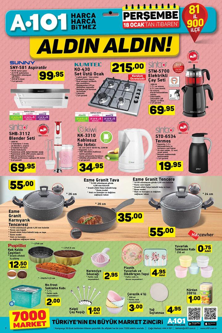 A101 18 Ocak Mutfak Ürünleri ve Aldın Aldın Kampanyası