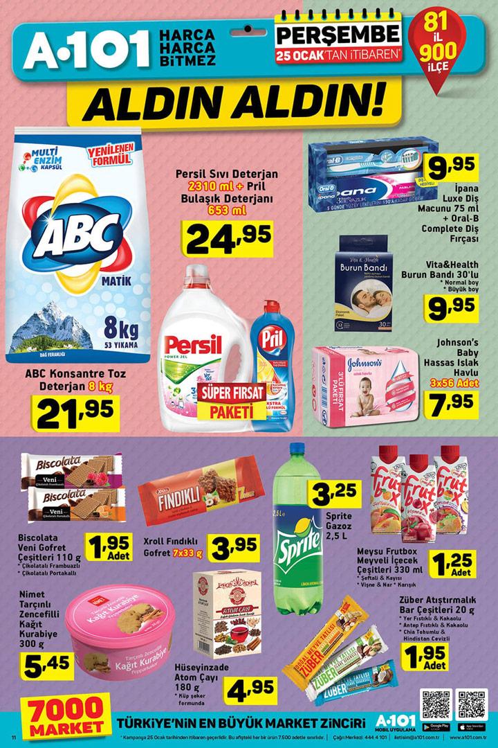 A101 25 Ocak 2018 Temizlik Aktüel Ürünleri