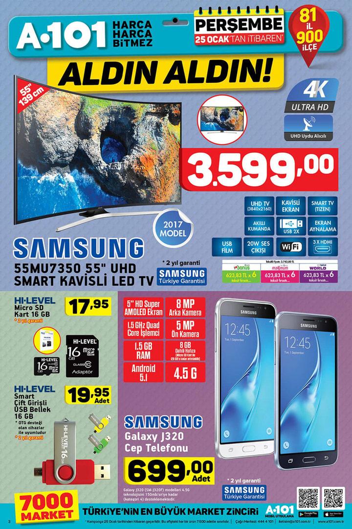 A101 25 Ocak Elektronik Aktüel Ürünleri Sayfası