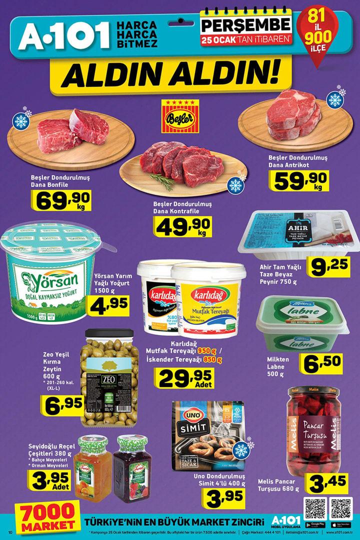 A101 25 Ocak Fırsatları Gıda Ürünleri İndirimleri