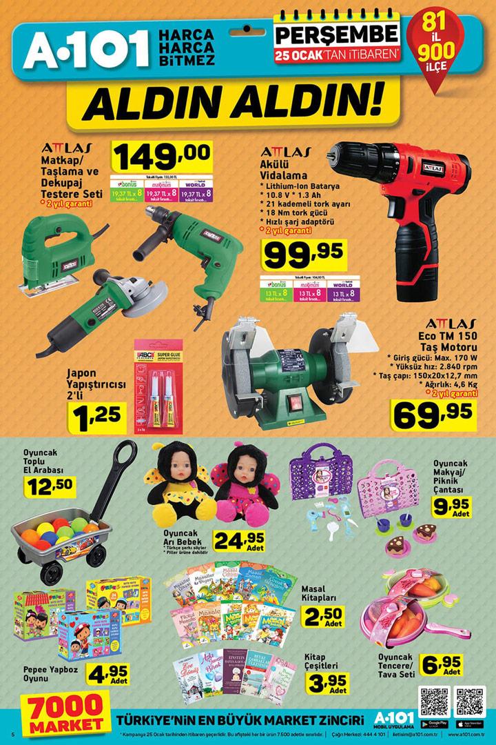 A101 25 Ocak Yeni Aktüel Ürün Fırsatları