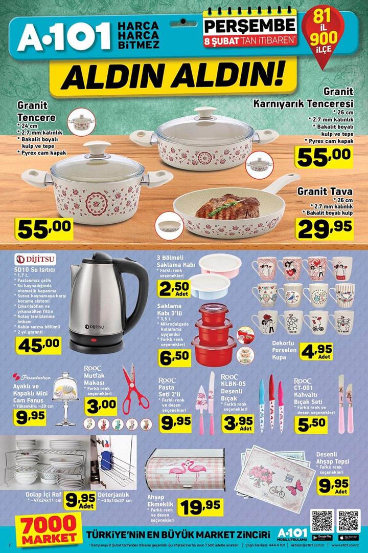 A101 8 Şubat Özel Mutfak Aktüel Ürün Sayfası