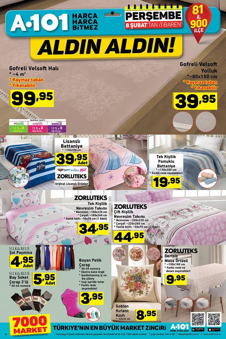 A101 8 Şubat Ev Tekstili Kataloğu – A101 Fırsatları