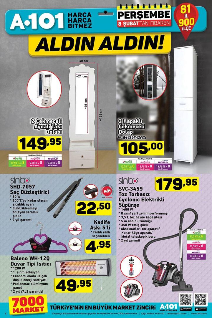 A101 8 Şubat Yeni Aynalı Takı Dolabı Kataloğu ve Dahası