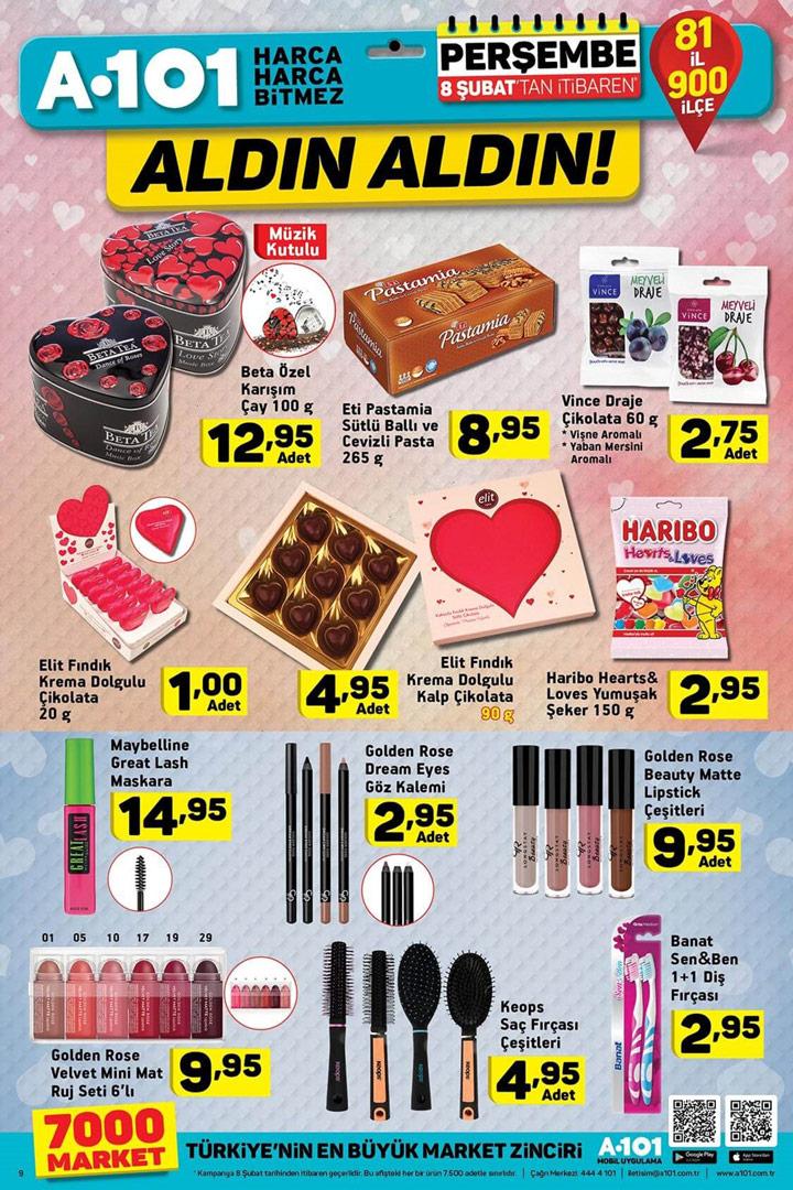 A101 Sevgililer Günü Özel Ürünleri – A101 8 Şubat Kataloğu
