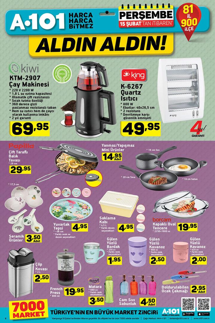 A101 15 Şubat Aktüel Mutfak Ürünleri Sayfası