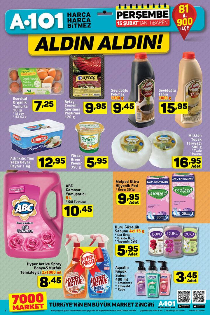 A101 15 Şubat Aktüel Temizlik Ürünü İndirimleri