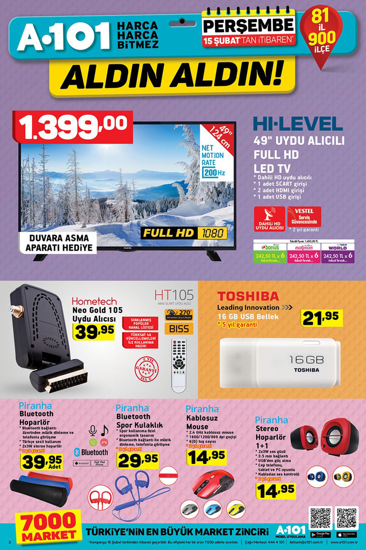 A101 15 Şubat Elektronik Aktüel İncelemesi – A101 Market
