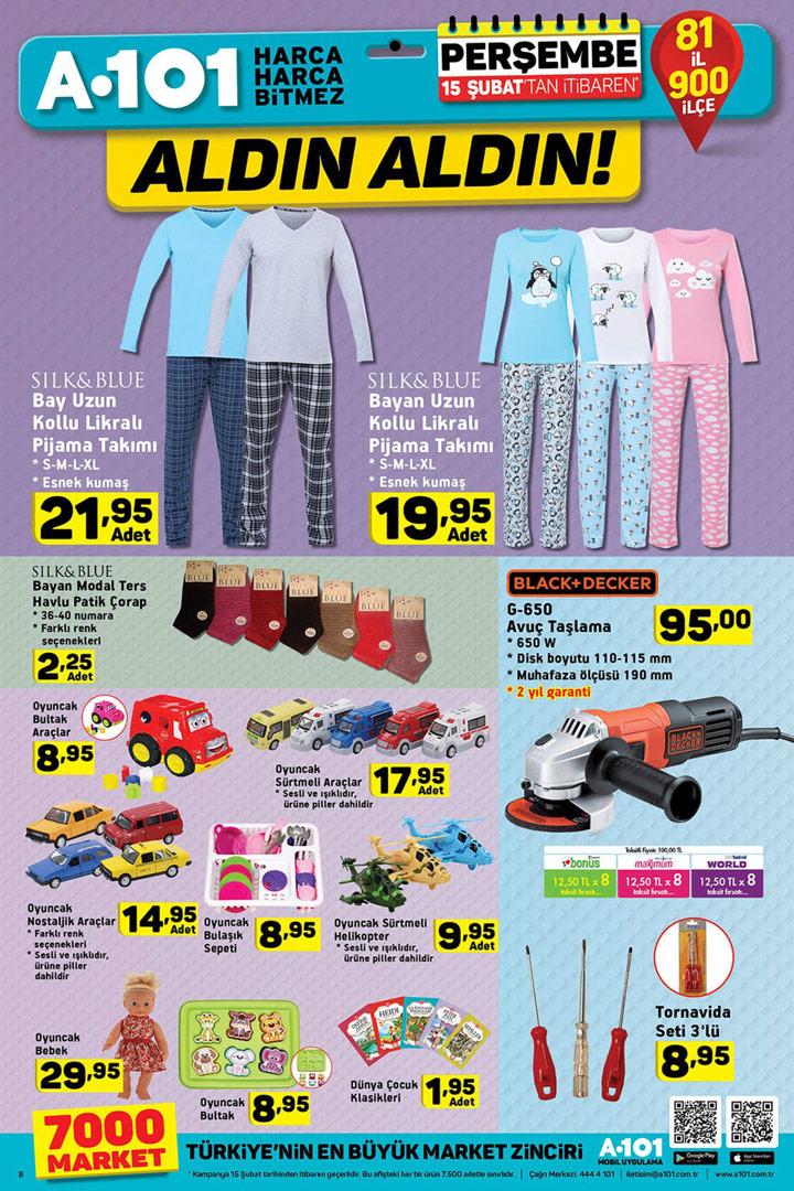 A101 15 Şubat Ev Tekstili ve Oyuncak Aktüel Fırsatları
