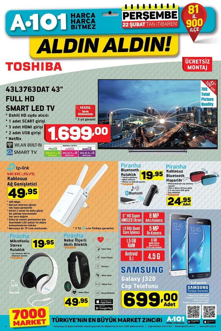 A101 22 Şubat İtibarıyla Gelecek Elektronik Ürünler