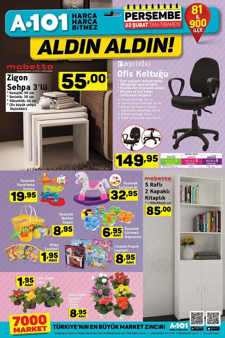 A101 22 Şubat Ev Mobilyası Aktüel Ürünleri