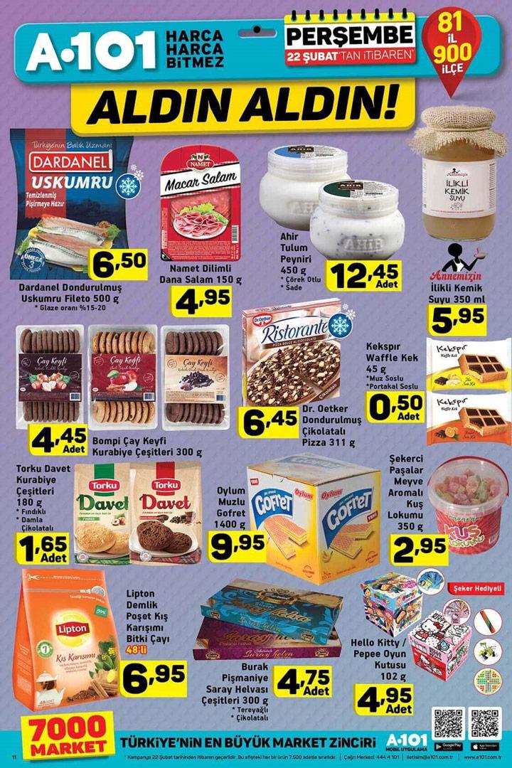 A101 22 Şubat Gıda Fırsatları Aktüel Ürünleri