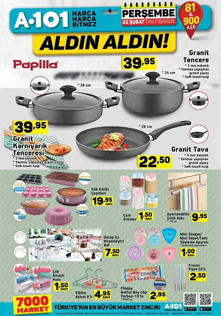A101 22 Şubat Perşembe Aktüel Katalogları