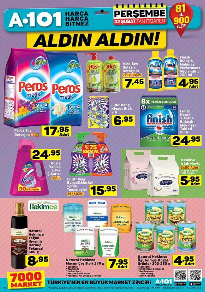 A101 – 22 Şubat Temizlik ve Doğal Aktüel Ürünleri