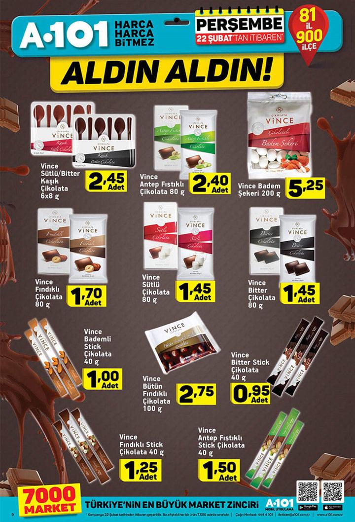 A101 22 Şubat Vince Çikolata Aktüel İndirimleri