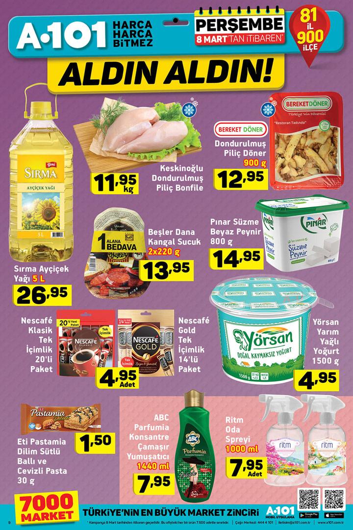 A101 8 Mart Gıda Ürün İndirimleri Sayfası
