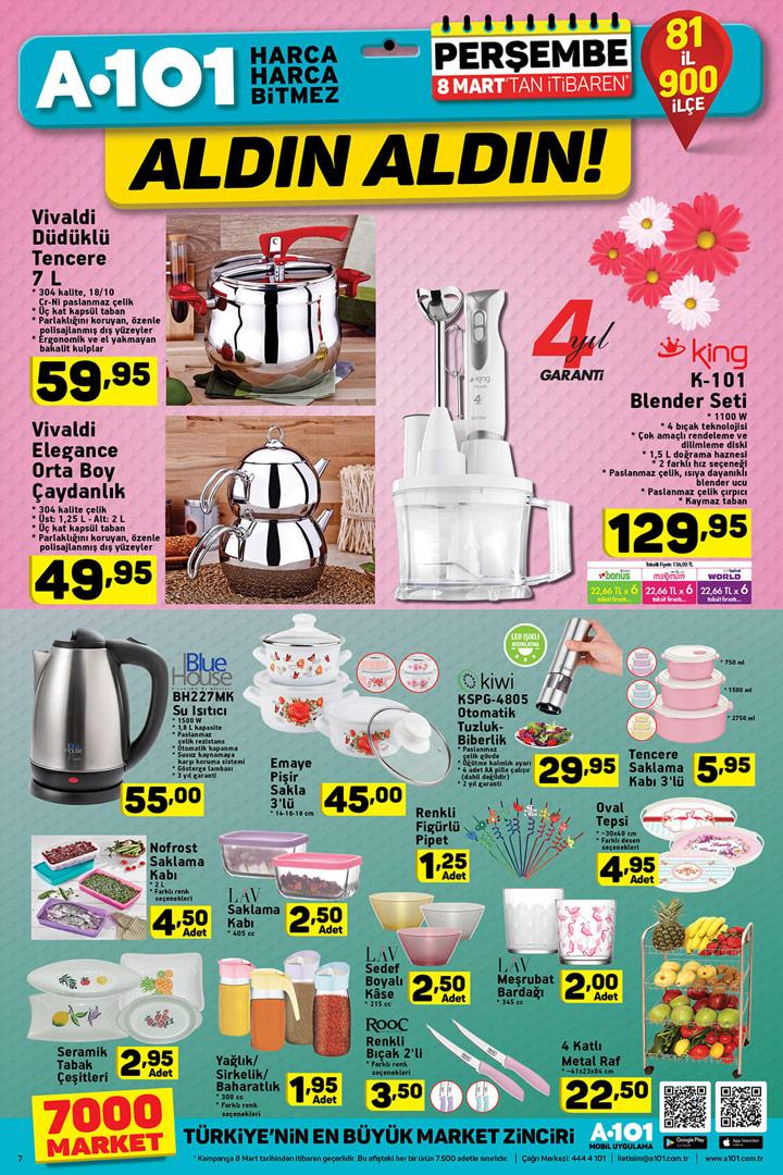 A101 8 Mart Kadınlar Günü Özel İndirimli Ürünleri