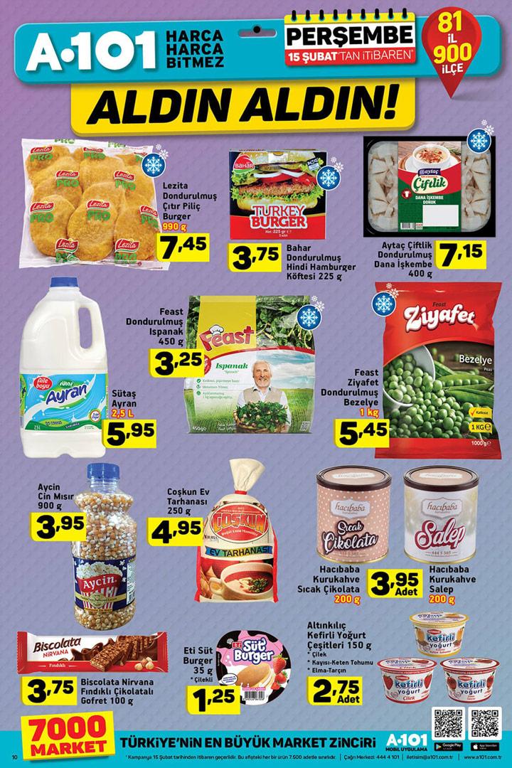 A101 Aktüel 15 Şubat Gıda Fırsatları Sayfası