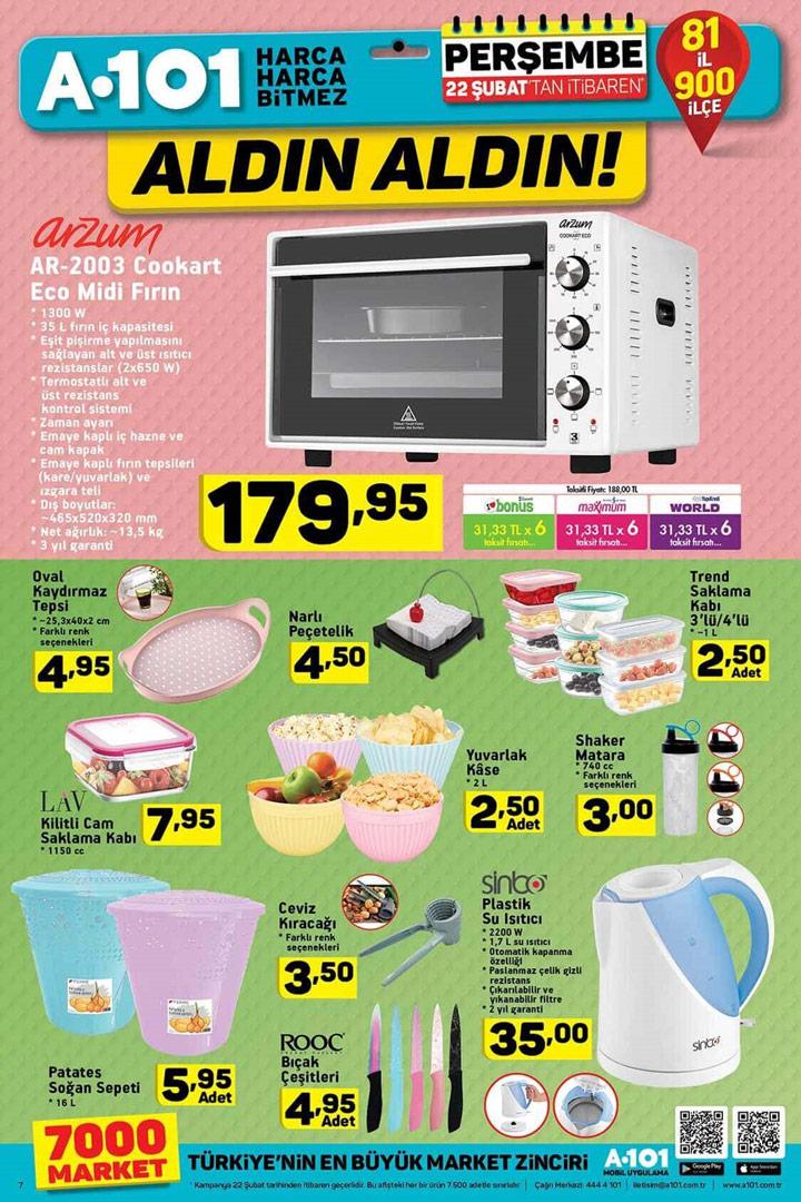 A101 Aktuel Mutfak Ürünleri 22 Şubat 2018 Kataloğu