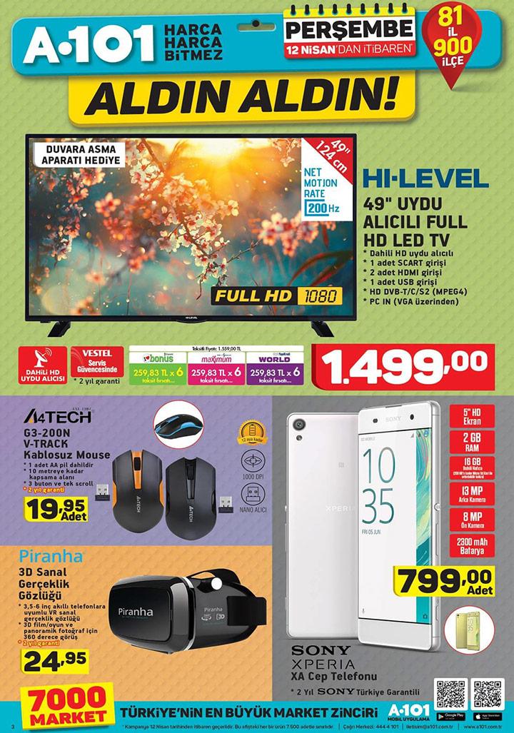 A101 12 Nisan Aktüel Teknoloji Ürünleri Sayfası