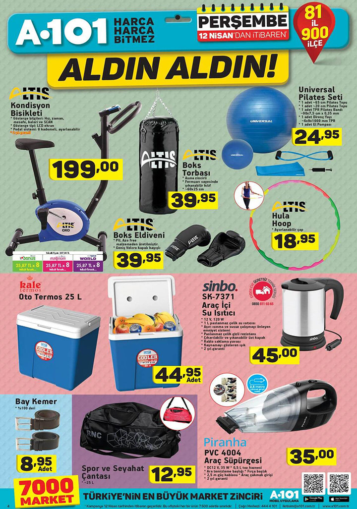 A101 12 Nisan Harika İndirimli Aktüel Ürün Sayfası