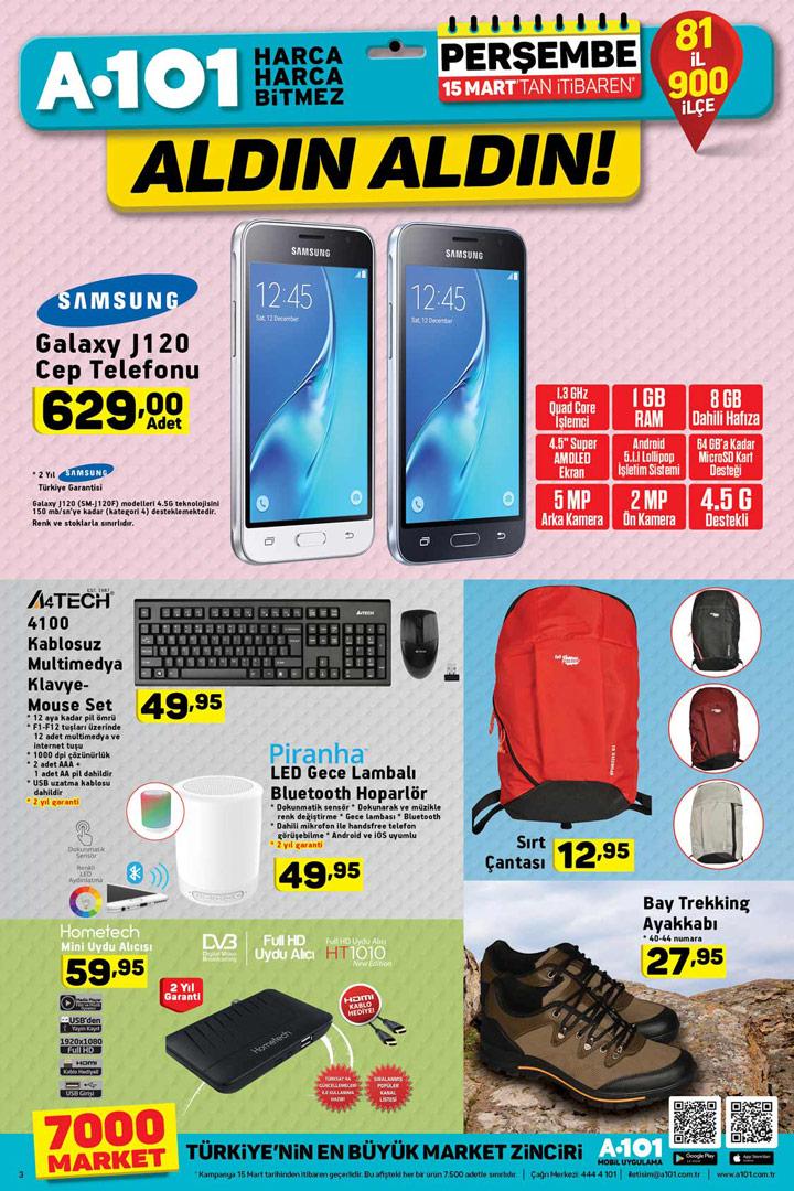 A101 15 Mart Aktüel Elektronik Ürün Kataloğu