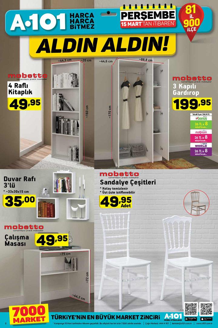 A101 15 Mart Mobilya Ürünleri Mobetto Fırsatları