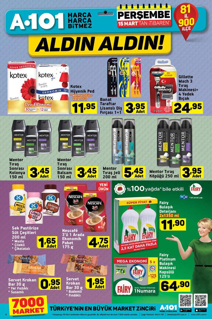 A101 15 Mart Perşembe İndirimli Grup Ürünleri