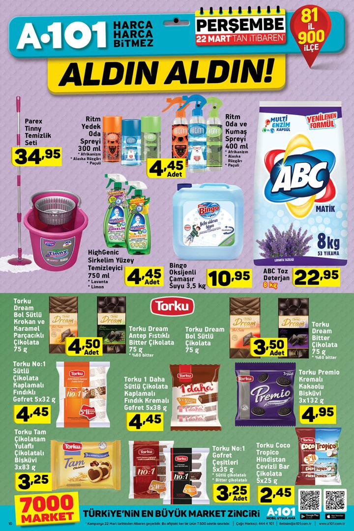 A101 22 Mart Gıda & Temizlik Ürünleri Aktüel Fırsatları