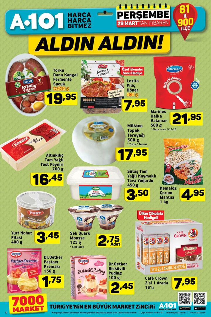 A101 29 Mart Aktüel Fırsatları Gıda Haberleri